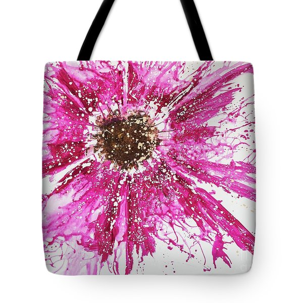 Tote Bag featuring the painting Beautiful Trauma by Annie Young Arts