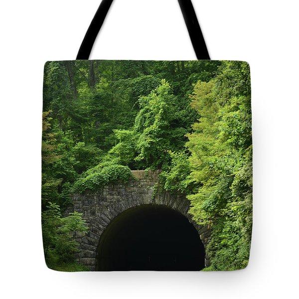 Beautiful Tunnel With Greenery, Nc Tote Bag