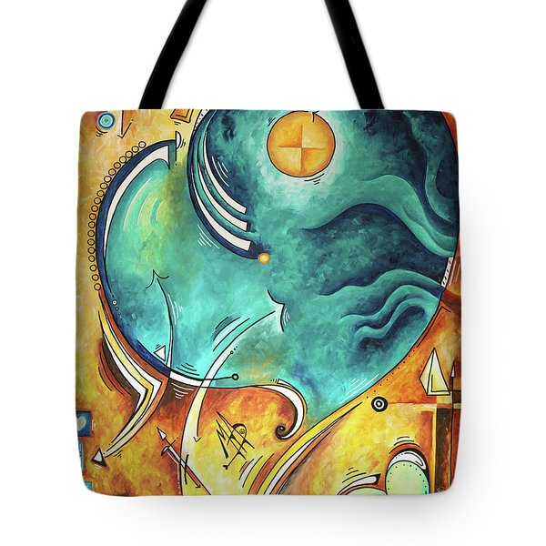 Beautiful Whimsical Heart Love Symbolic Painting Live Your Truth By Madart Megan Duncanson Tote Bag