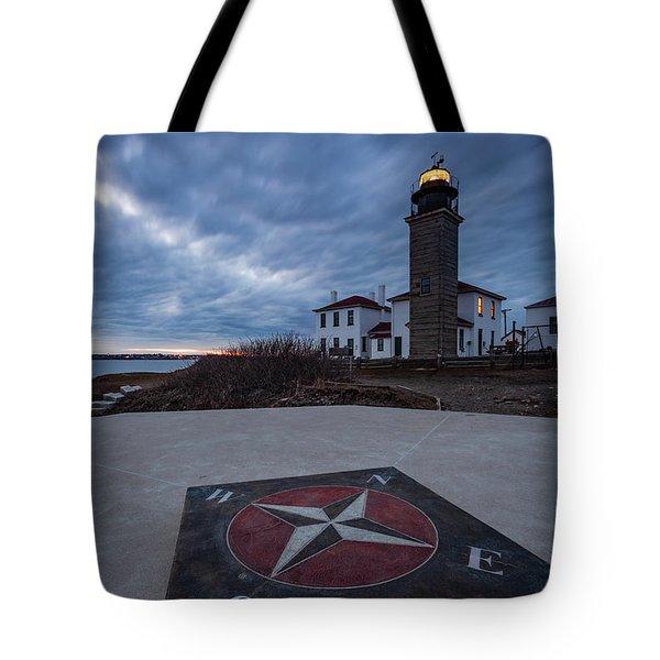 Beavertail Lighthouse Tote Bag