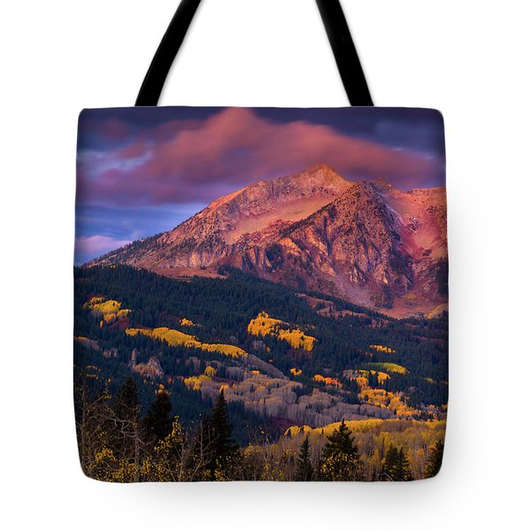 Tote Bag featuring the photograph Beckwith At Sunrise by John De Bord