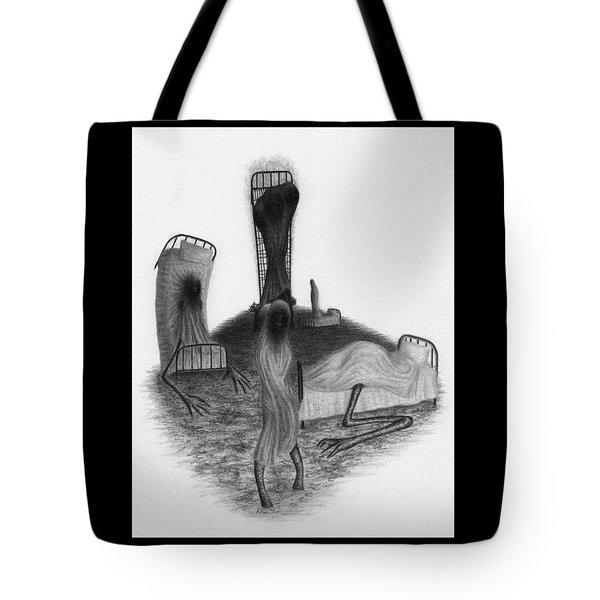 Tote Bag featuring the drawing Bed Sheets - Artwork by Ryan Nieves