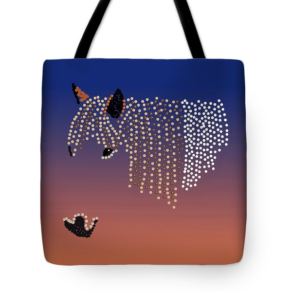 Bedazzled Horse's Mane Tote Bag