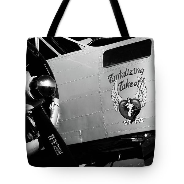 Tote Bag featuring the photograph Beech At-11 Bw by Doug Camara