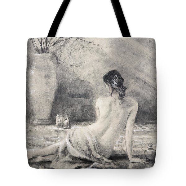 Tote Bag featuring the painting Before The Bath by Steve Henderson