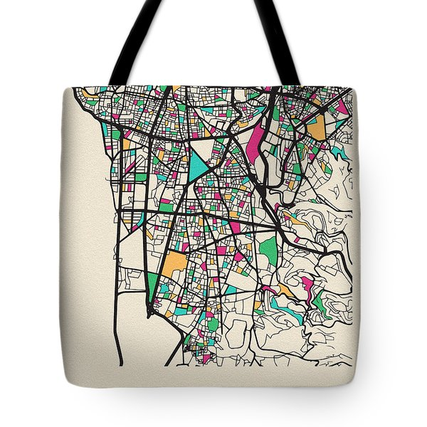 Beirut, Lebanon City Map Tote Bag
