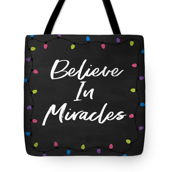 Tote Bag featuring the digital art Believe In Miracles 2-art By Linda Woods by Linda Woods