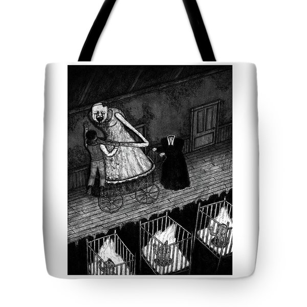 Tote Bag featuring the drawing Bella The Nightmare Carriage - Artwork by Ryan Nieves