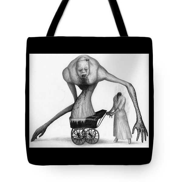 Tote Bag featuring the drawing Bella The Nightmare Carriage Updated - Artwork by Ryan Nieves