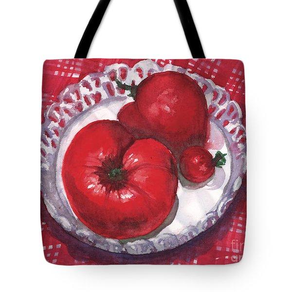 Bella Tomatoes Tote Bag