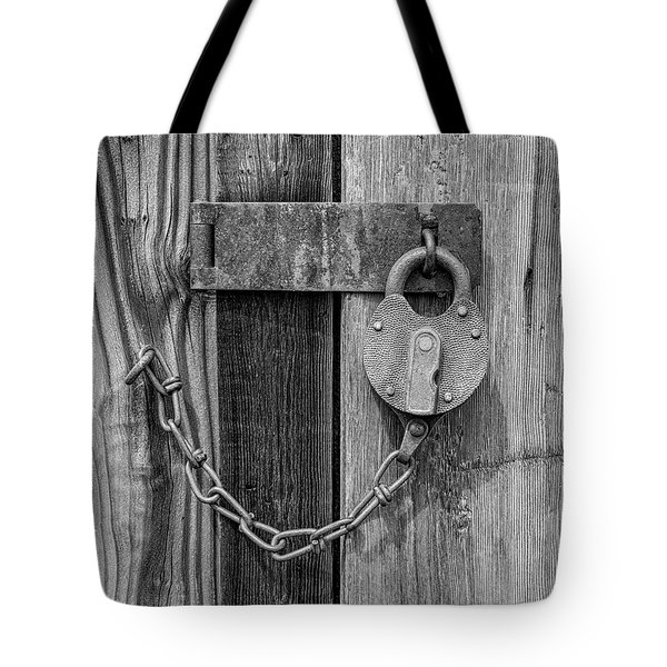 Tote Bag featuring the photograph Belmont Lock, Black And White by Leland D Howard