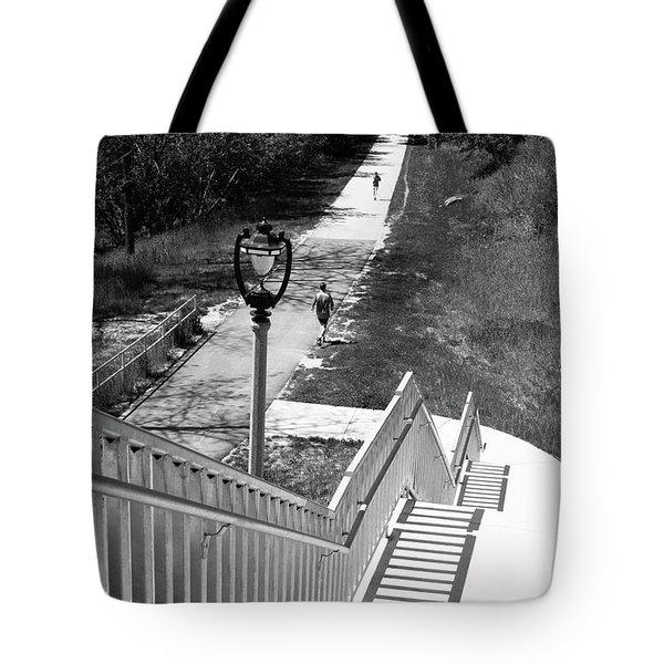 Tote Bag featuring the photograph Below Brady Street by PJ Boylan