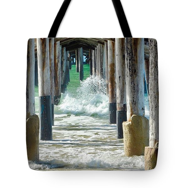 Below The Pier Tote Bag