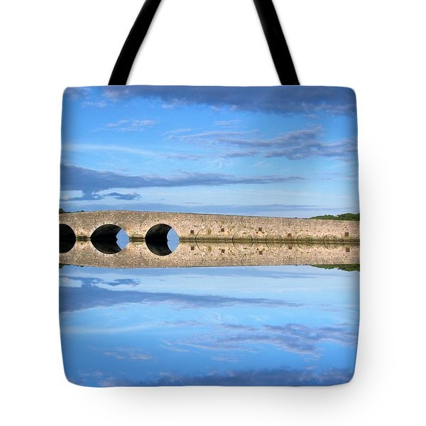 Belvelly Castle Reflection Tote Bag
