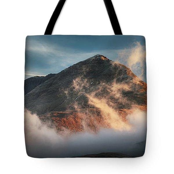 Ben Lomond Misty Sunset Tote Bag