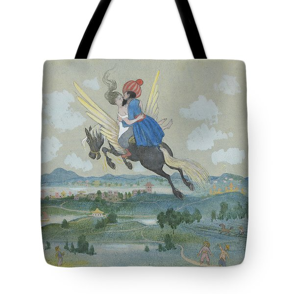 Tote Bag featuring the drawing Ben Oni And The Lovely One Have Soon Had To Spend Many Miles Behind by Ivar Arosenius