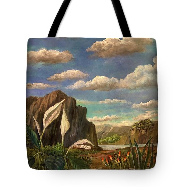 Beneath The Clouds Of Africa Tote Bag