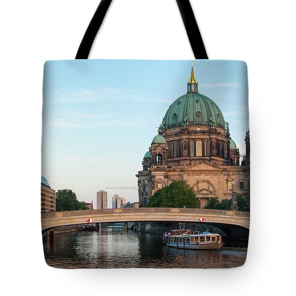 Tote Bag featuring the photograph Berliner Dom And River Spree In Berlin by Milan Ljubisavljevic