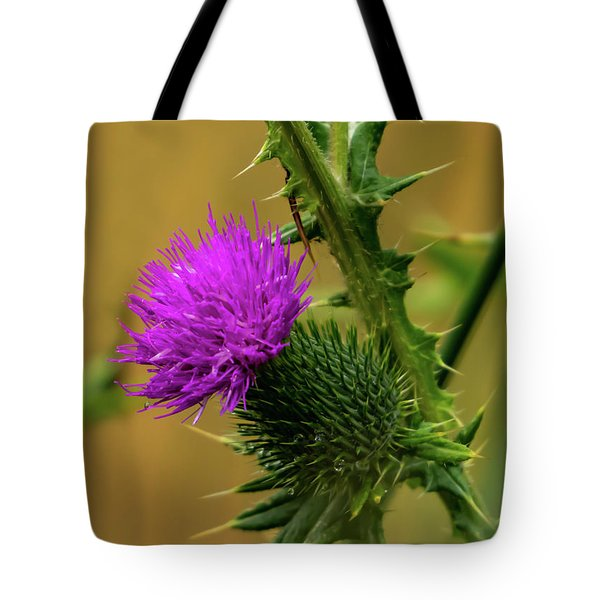 Between The Flower And The Thorn Tote Bag