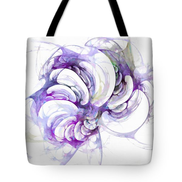 Beyond Abstraction Purple Tote Bag