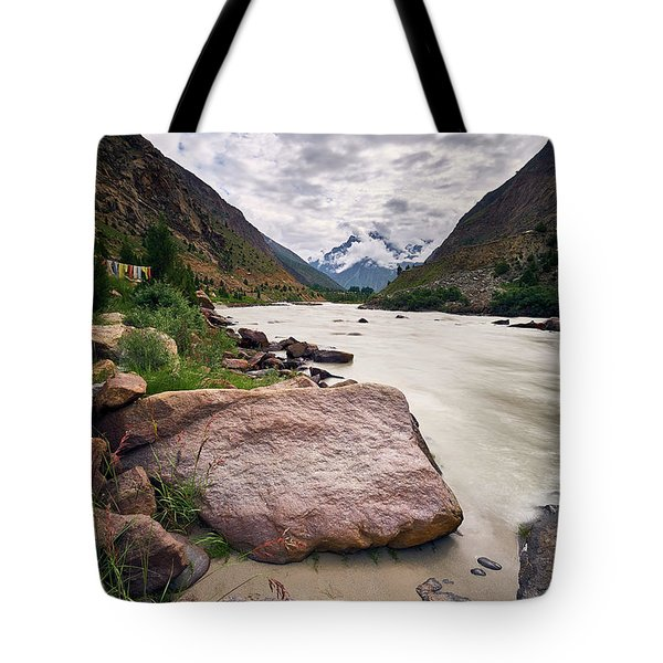 Tote Bag featuring the photograph Bhag River by Whitney Goodey