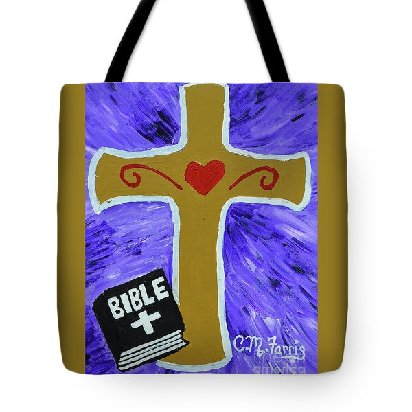 Tote Bag featuring the painting Bible Study by Christopher Farris