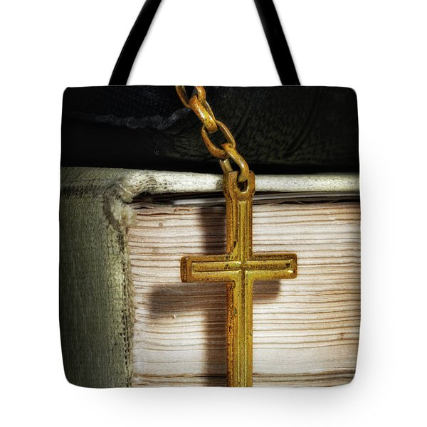 Bibles With Cross Tote Bag