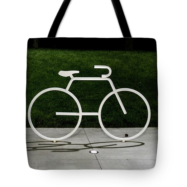 Tote Bag featuring the photograph Bicycle by Randy Scherkenbach