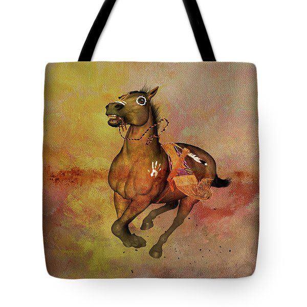 Tote Bag featuring the painting Bid For Freedom by Valerie Anne Kelly