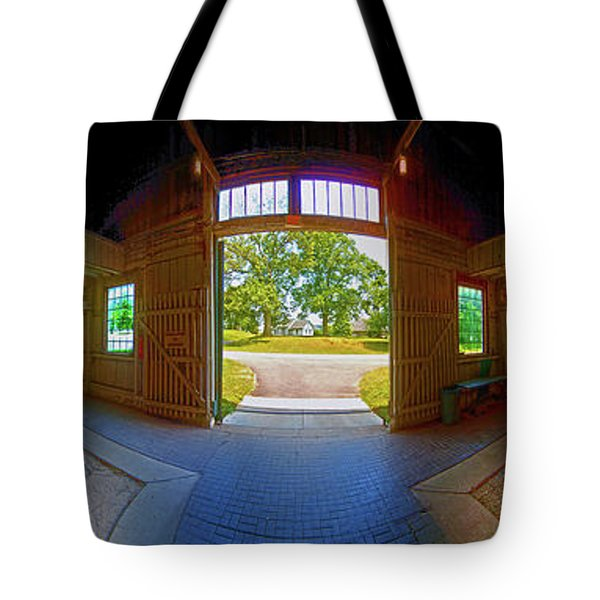 Tote Bag featuring the photograph Big Barn Kentucky Horse Park 360 by Tom Jelen