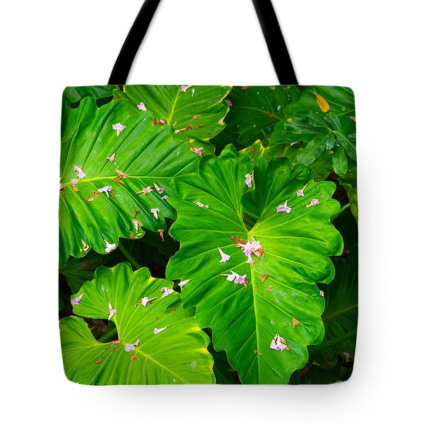 Big Green Leaves Tote Bag