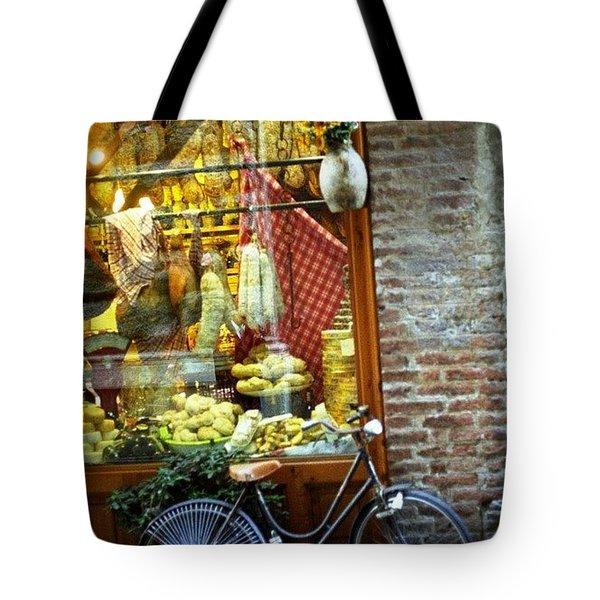 Bike In Sienna Tote Bag