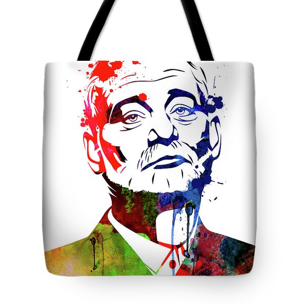 Bill Murray Watercolor Tote Bag
