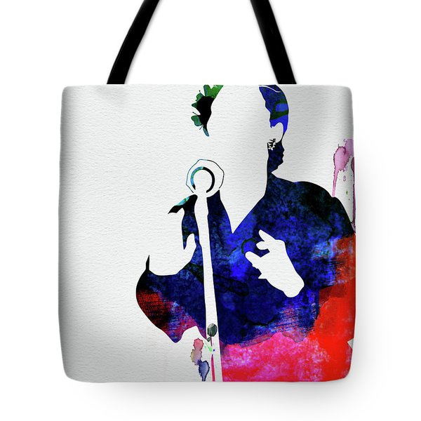 Billie Holiday Watercolor Tote Bag