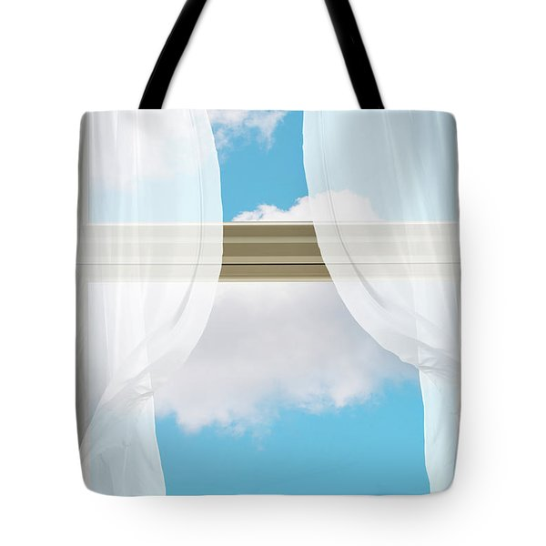 Billowing Voile Curtains Tote Bag