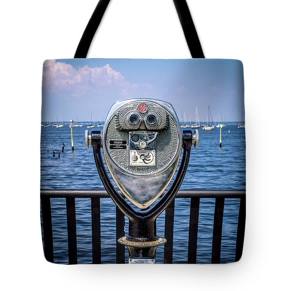 Tote Bag featuring the photograph Binocular Viewer by Steve Stanger