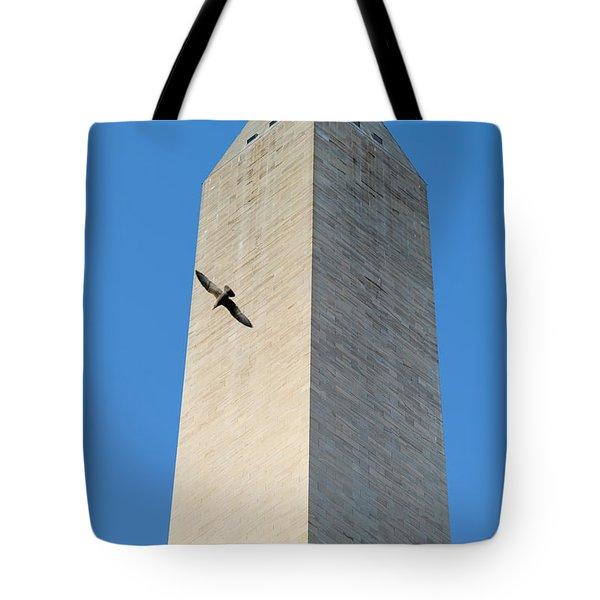 Bird Flying Around The Washington Tote Bag