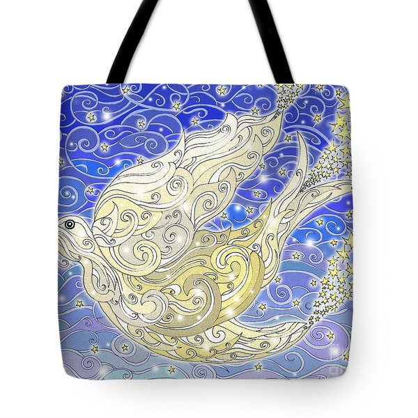 Bird Generating Stars Tote Bag