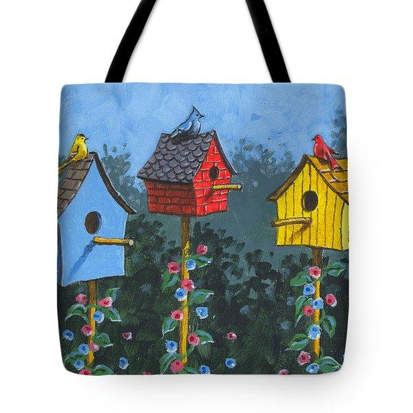 Bird House Lane Sketch Tote Bag