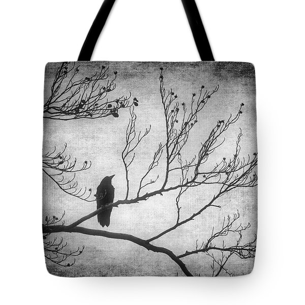 Bird Silhouette In Black And White Tote Bag