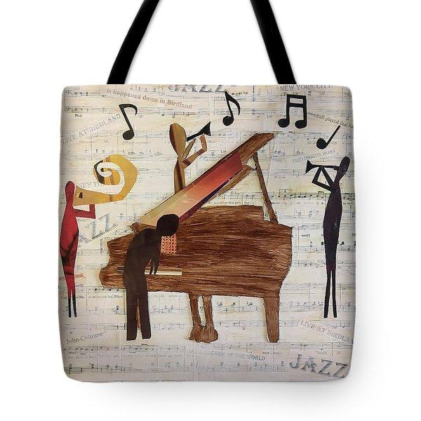 Birdland Jazz Tote Bag