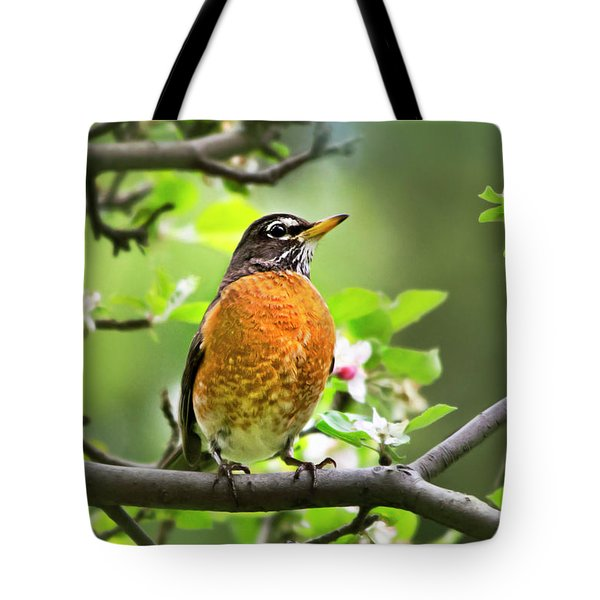 Birds - American Robin - Nature's Alarm Clock Tote Bag