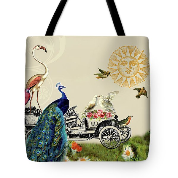 Birds Of A Feather In Paris, France Tote Bag