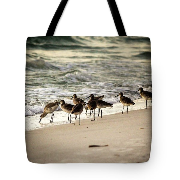 Tote Bag featuring the photograph Birds On The Beach by Doug Camara