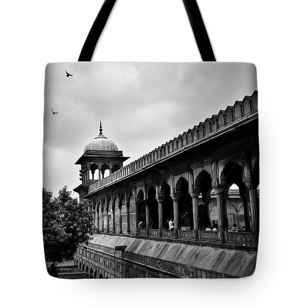 Tote Bag featuring the photograph Birds Over The Jama Masjid by Whitney Goodey