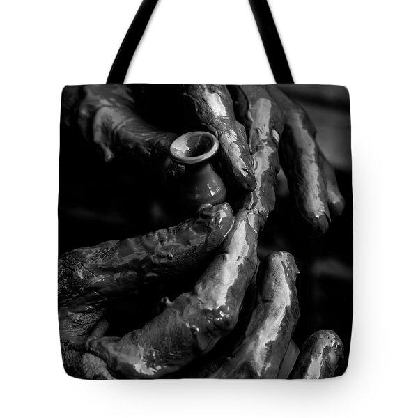 Birth Of A Clay Pot Tote Bag
