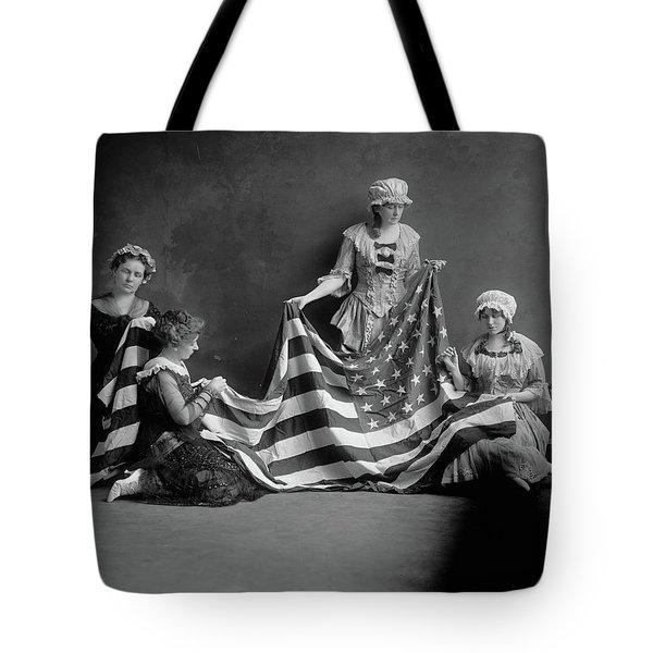 Birth Of The American Flag Tote Bag