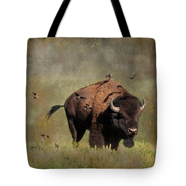 Bison And Friends Tote Bag