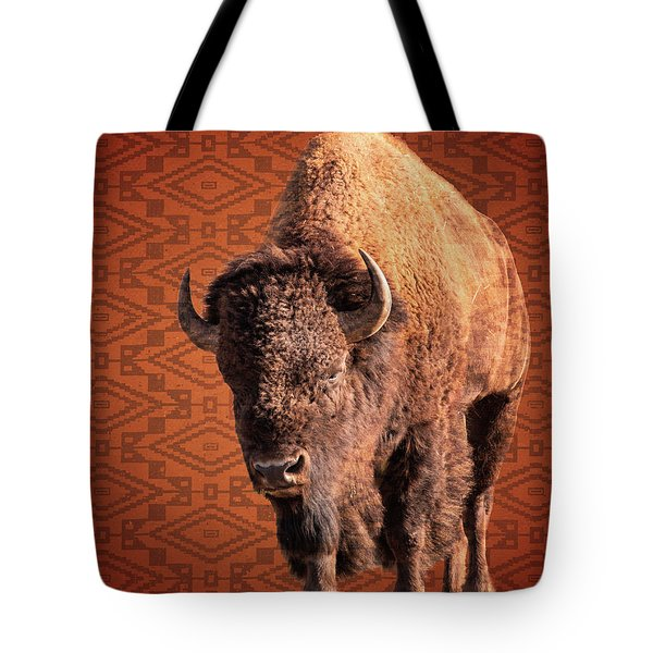 Bison Blanket Tote Bag