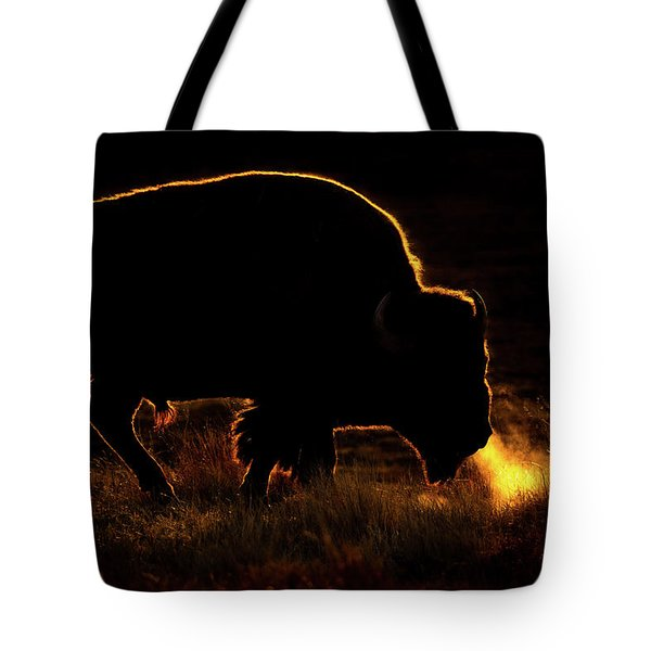 Bison Breath Tote Bag
